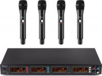 PD504H 4x 50-Channel UHF Wireless Microphone Set with 4 handheld microphones