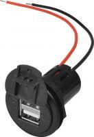 ProCar 12/24V 2 x USB udtag, 5V / 5000mA (m. ledning)