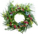 Christmas Decorations, Europalms Wild Flower Wreath, artificial, 65cm