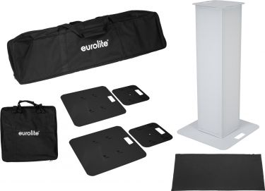 Eurolite 2x Stage Stand 100cm incl. Cover and Bag, black