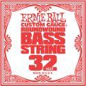 Musikinstrumenter, Ernie Ball EB-1632, Single .032 Nickel Wound string for Electric Bass