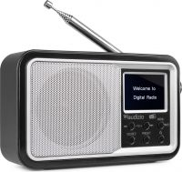 Anzio Portable DAB+ Radio with Battery Silver