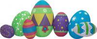 Europalms Inflatable Figure Easter Eggs, 100cm