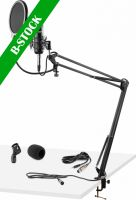 """Studio Set / Condensor microphone with stand and popfilter """"B-STOCK"""""""