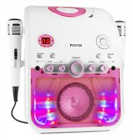 SBS20W Karaoke Machine with CD-G White/Pink