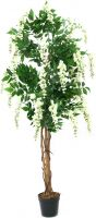 Europalms Wisteria, artificial plant, white, 150cm