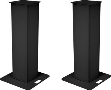 Eurolite 2x Stage Stand 150cm incl. Cover and Bag, black