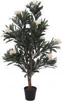 Europalms Oleander tree, artificial plant, white, 120 cm
