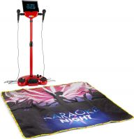KSM15R Karaoke Stage Set Red with lighted Stage Mat
