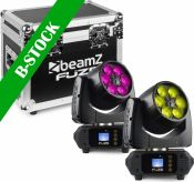 "Fuze610Z Wash 6x 10W LED Moving Head Zoom Set 2pcs in Flightcase ""B-STOCK"""