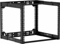 "Caymon 19"" rack åben ramme, 300-450 mm dyb, 9 unit"