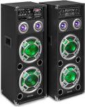 "KA-28 Active Speaker Set 2x 8"" USB/RGB LED 1200W"