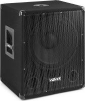 SMWBA15MP3 Bi-AMP Subwoofer 15inch/600W & BT