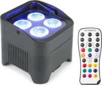BeamZ BBP94 Batteri Uplight Par 4x 10W