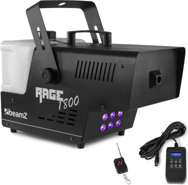 Rage 1800LED Smoke Machine with Timer Controller