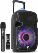 "Højttalere, FT12JB Portable Sound System 12"" 700W with light show"
