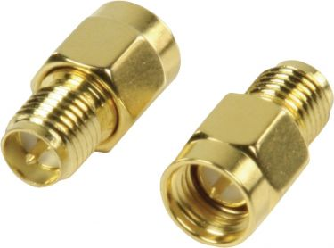 Valueline SMA Adapter RP SMA Female - SMA Male Gold, VLSP02112A