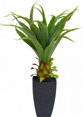 Europalms Agave plant with pot, artificial plant, 75cm