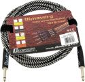 Musikkinstrumenter, Dimavery Instrument-cable, 3m, bk/sil