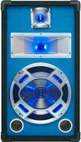 "Højttalere, Disco PA speaker 10""/25cm 400W LED blue"
