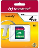 "PC-udstyr og datatilbehør, <span class=""c9"">Transcend -</span> SD kort 4GB SDHC 2.0 Class 10"