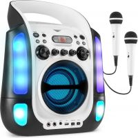 SBS30W Karaoke System with CD and 2 Microphones White