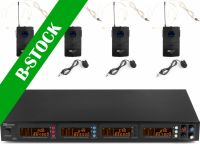 """PD504B 4x 50-Channel UHF Wireless Microphone Set with 4 bodypack microphones """"B-STOCK"""""""