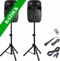 """VPS152A Plug & Play 1000W Speaker Set with Stands """"B-STOCK"""""""