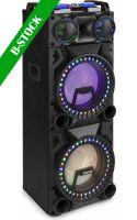 "Højttalere, VS212 Active Speaker 2x 12"" Bluetooth, LED 2400W ""B-STOCK"""