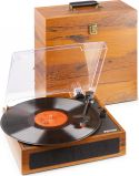 RP170L Record Player with Record Storage Case Wood
