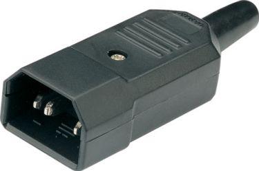Shrouded 3-pin IEC plug