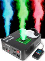 Røgmaskine 2000W. Professionel røgkanon med kraftig LED lys, Timer og DMX S2000 - Super flot effekt.