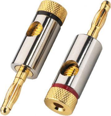 Pair of banana plugs for speakers, 4.5mm BP-150