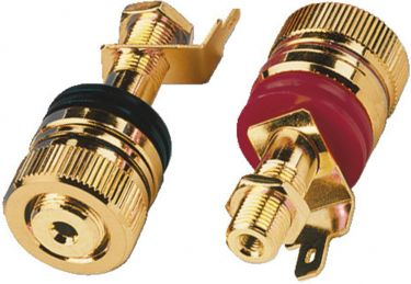 Pair of high-end speaker pole terminals BP-520G