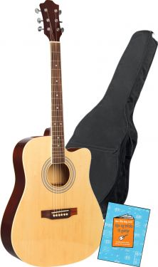 "Western Guitar 41"" m. taske / perfekt begynderpakke!"