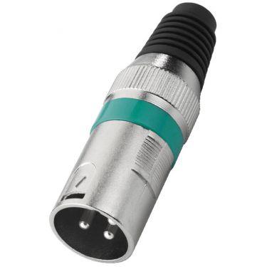 XLR-stik han grøn XLR-207P/GN