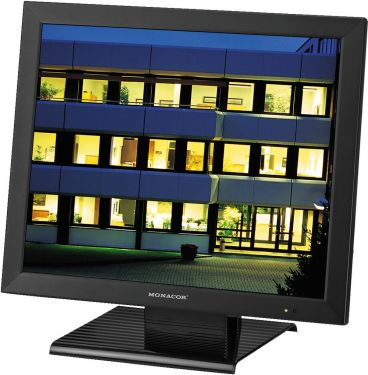 LCD colour monitor in a metal housing for surveillance systems TFT-1904LED