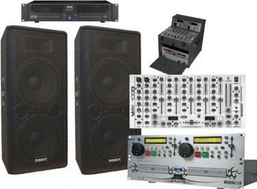 Komplet DJ Lydanlæg med db. cd-afspiller, mixer og 2200 Watt