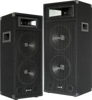 SM 2-Way Disco PA speaker with 2x bass