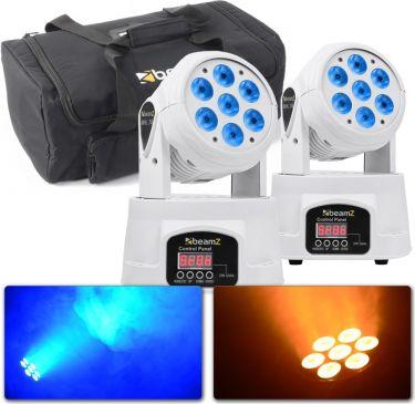Beamz MHL74 Mini Moving Head 7x 10W LED White - Pakketilbud