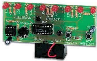 Velleman - MK107 - Løbelys med 8 lysdioder