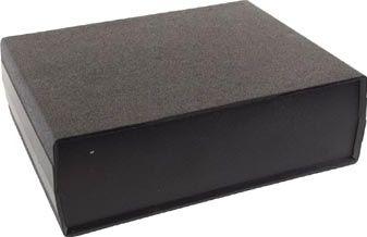 ABS instrumentkabinet - Sort/sort (200x160x65mm)