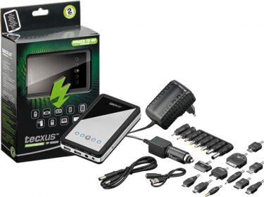 Tecxus - Tecxus - USB PowerBank 10000mAh LiPol m. ladere + stiksort.