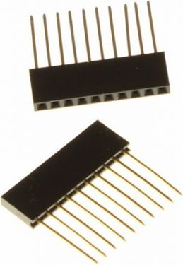 Stakbar pin header - 2,54mm han/hun 10 ben (2 stk.)