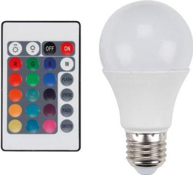 VelLight - E27 LED pære m. fjernbetj. - 7,5W, RGB + Varm hvid (25000h)