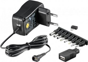 GOOBAY - Universal netadapter - 3-12Vdc / 7,2W (600mA) + USB, 8 stik