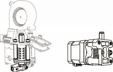 Velleman - Ekstra extruder printerhoved-kit til K8400