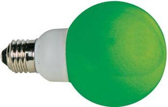 HQ Power - E27 LED pære - 230VAC / 1W, G60, GRØN