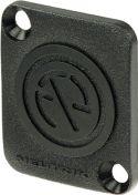 Neutrik dækplade, til 24mm hul, sort