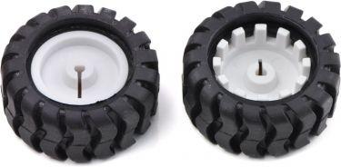 Hjul Akseldiameter 3 mm, sort gummi Ø: 42mm (2 stk.)